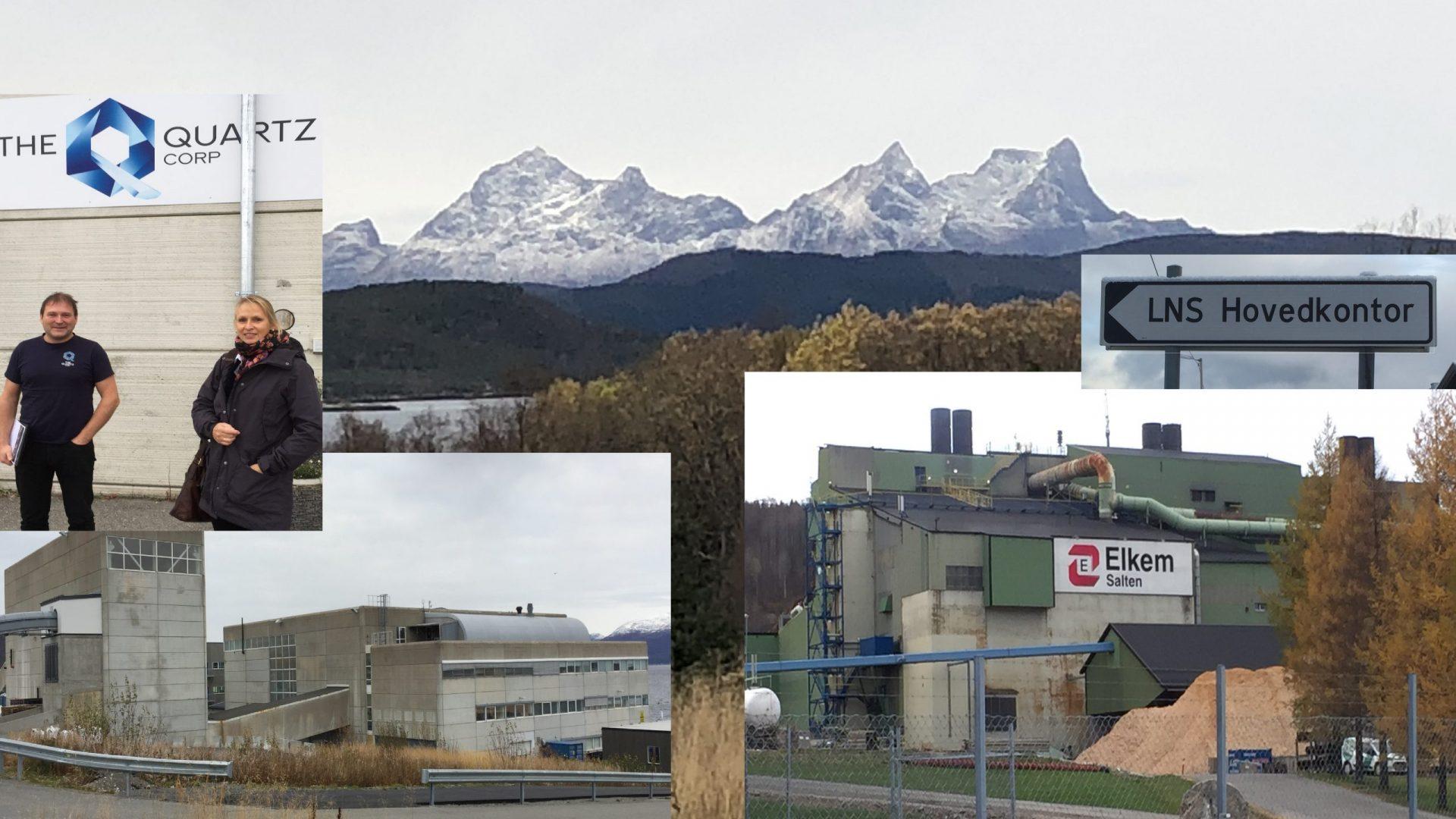 Collage med bilder fra bergindustribedrifter