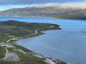 Repparfjorden i Finnmark sett ovenfra
